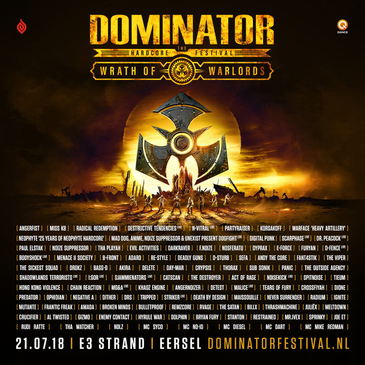 dominator 2018 line-up art of dance q-dance e3 strand eersel