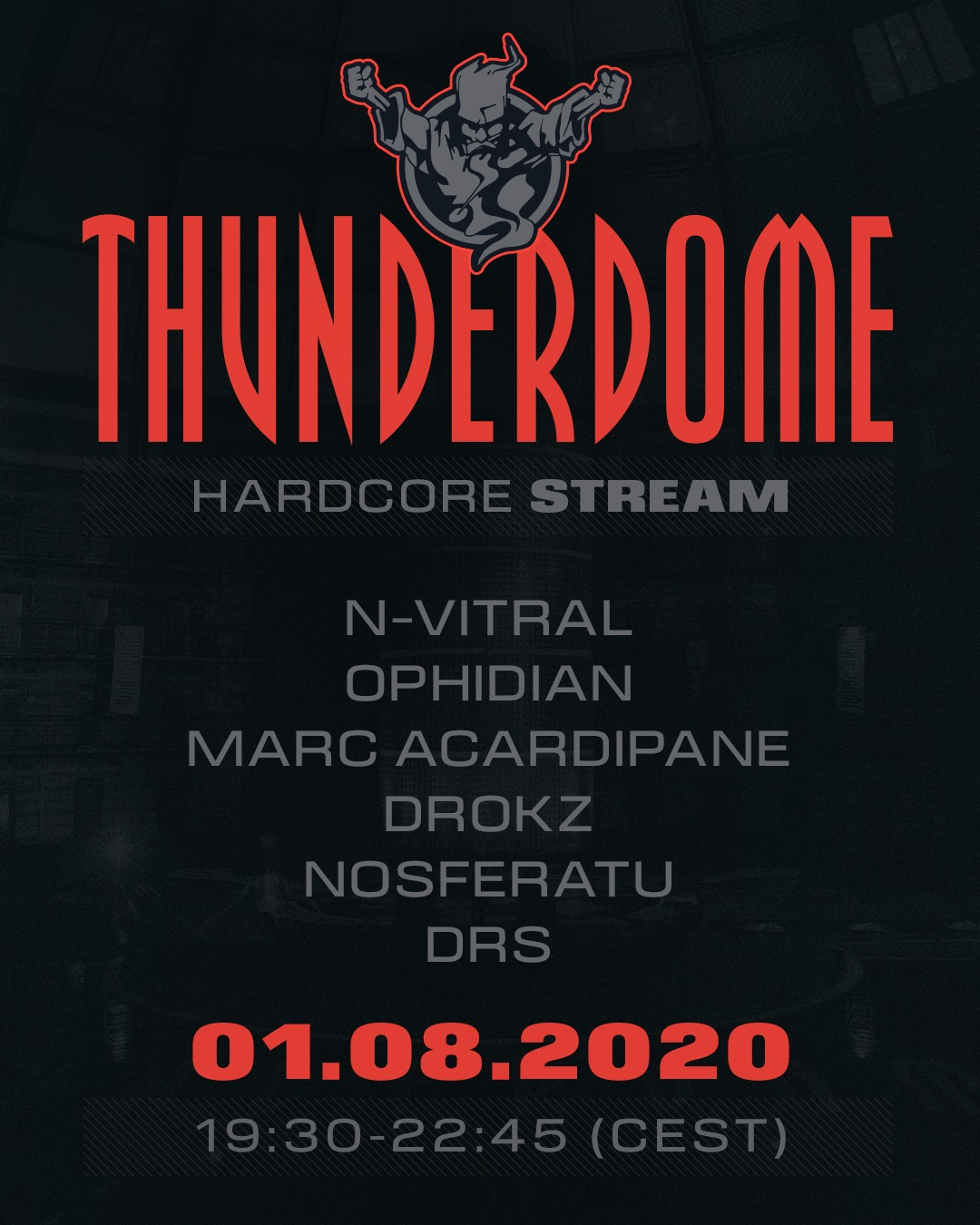 Thunderdome Hardcore Stream line-up